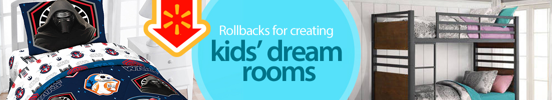Rollbacks on furniture for creating kids' dream rooms