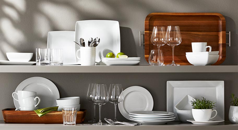 Goes with everything. Everyday meals are better with affordable porcelain dinnerware, exclusively from Better Homes & Gardens. Durable, chip resistant & dishwasher & microwave safe, these dishes are a classic look for your table.