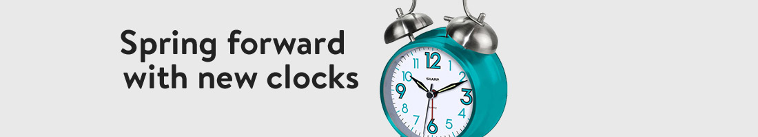 Spring forward with new clocks