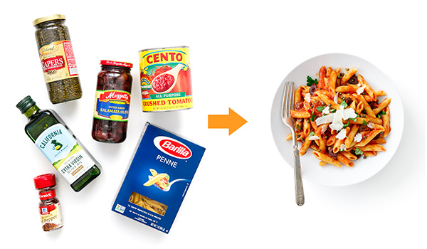 Pantry dishes ingredients | penne