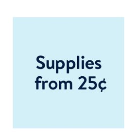 Shop supplies from 25¢