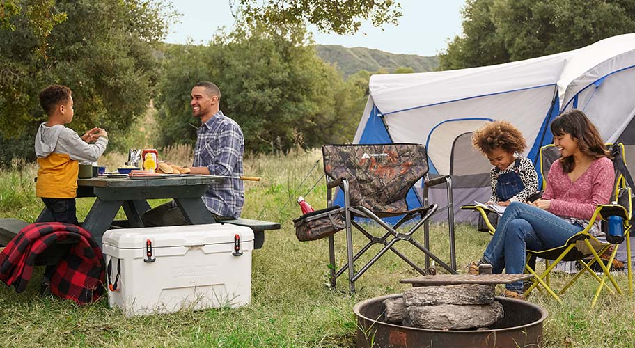 At home in the outdoors. Take comfort in the wild with Ozark Trail's quality camping gear. With over 200 new products just added, this huge assortment offers everything from tents & furniture, to backpacks, sleeping bags, coolers & more.