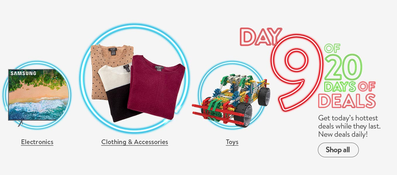 Day 9 of 20 days of deals. Get today's hottest deals while they last. New deals daily!