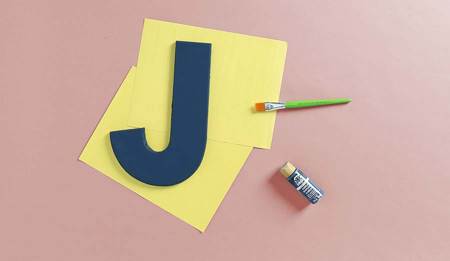 painting wood letter