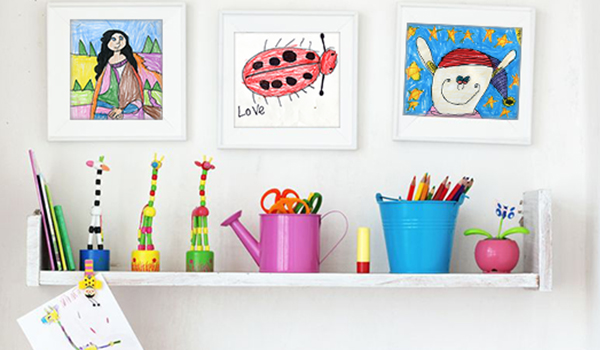 How to use kids' art as home decor