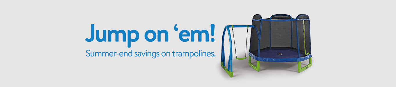 Jump on these end-of-summer savings on trampolines!