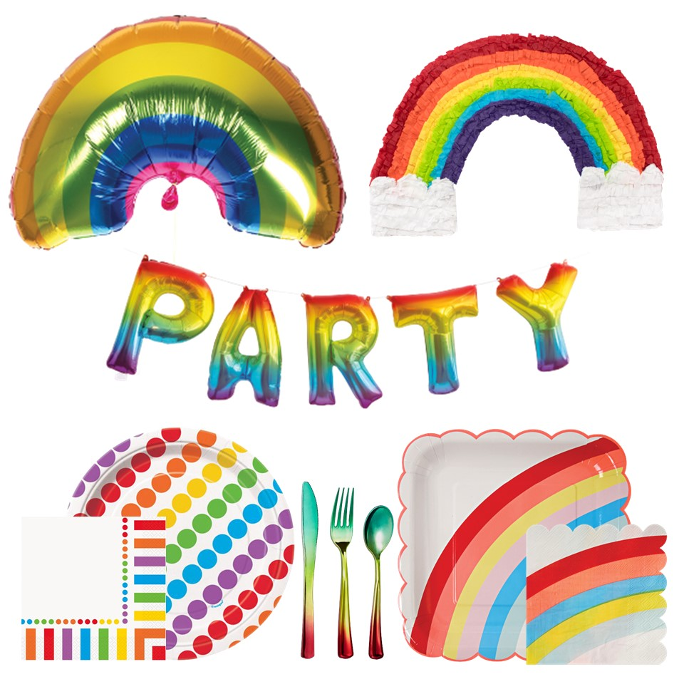 Shop Rainbow Party Supplies