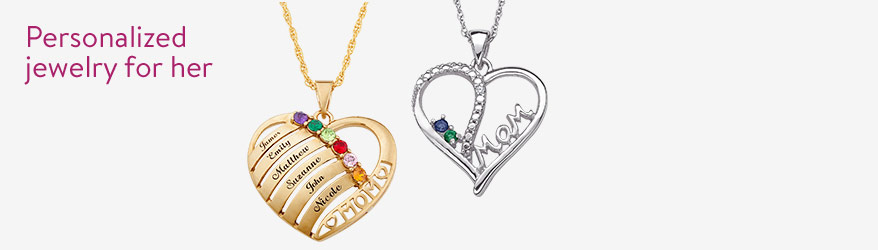 Personalized jewelry for her...just in time for Mother's Day.