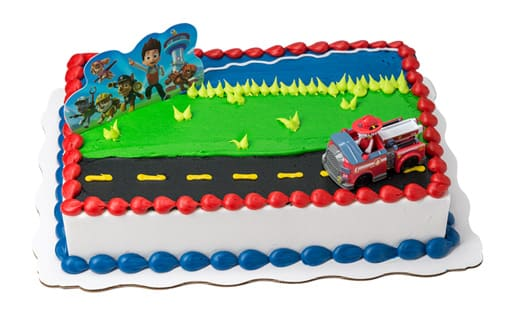 PAW Patrol Sheet Cake With PatrolTM Toy Fire Truck
