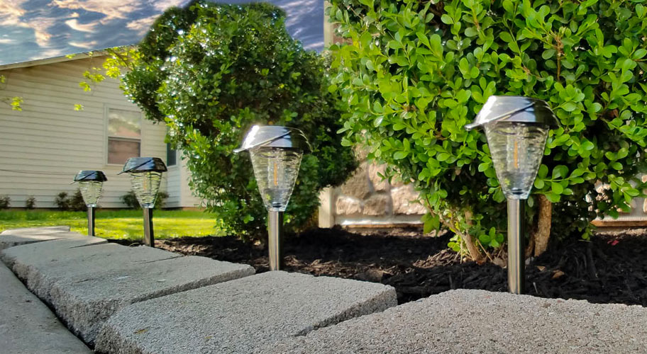 Light Up Your Landscape. Illuminate Your Landscape With LED Solar Powered  Lighting. Easy Installation