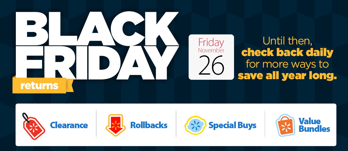 Black Friday returns Friday, November 26, 2015