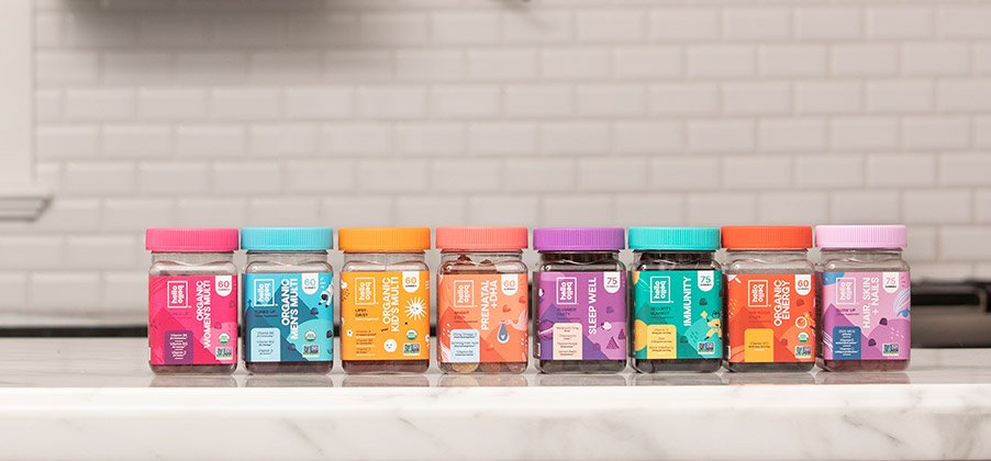 Introducing Hello Bello Vitamins. A new line of gummies for the whole family.
