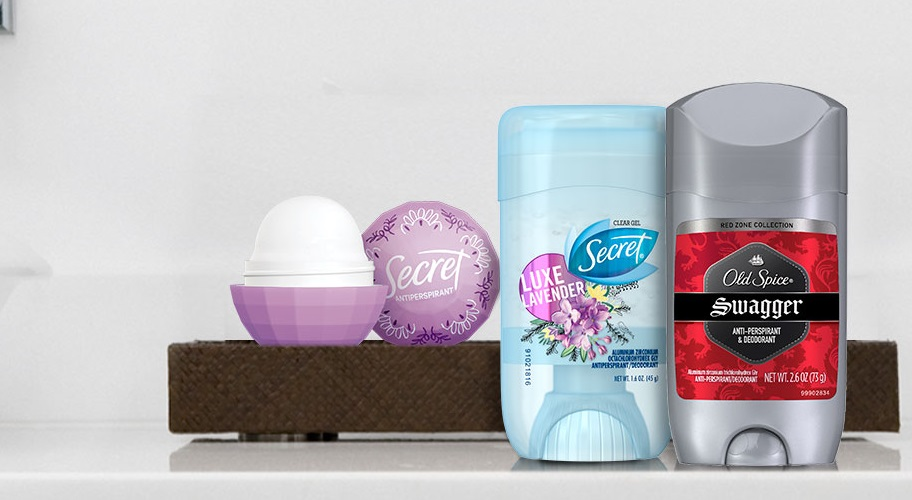 Shop Deodorant & Antiperspirant from Secret and Old Spice.