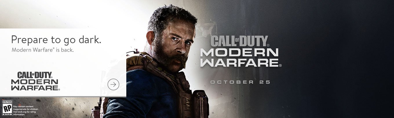 Call of Duty: Modern Warfare. Prepare to go dark. Preorder now.