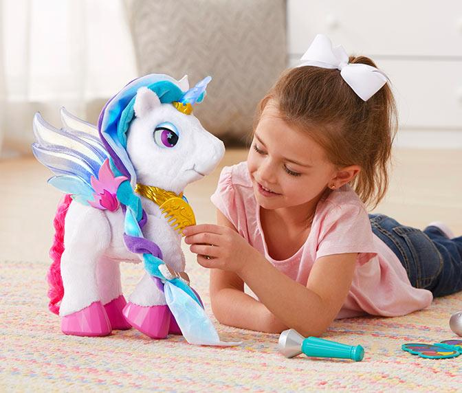 Kids Ride On Unicorn Fantasy Rainbow Childs Fancy Dress Costume Horse Age 5-7