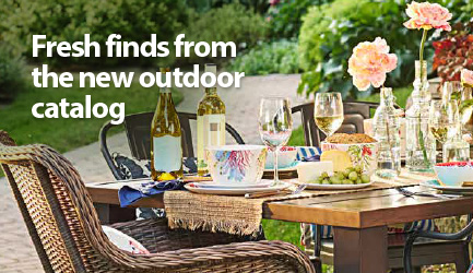 fresh finds from the new outdoor catalog from better homes and gardens - Outdoor Garden Decor