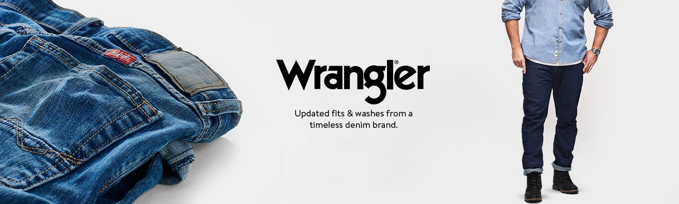 Wrangler. Updated fits & washes from a timeless denim brand.