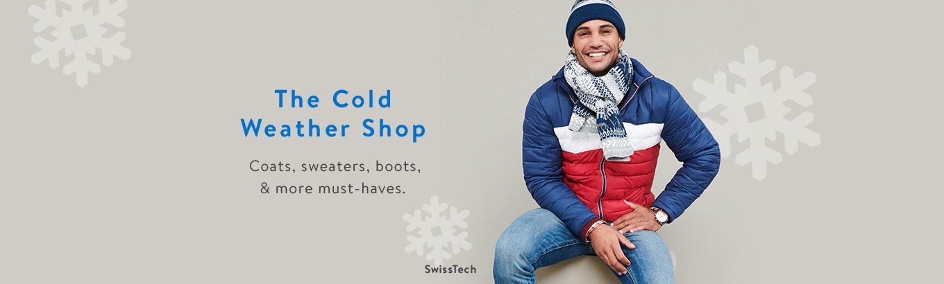 The Cold Weather Shop. Coats, sweaters, boots, and more must-haves.