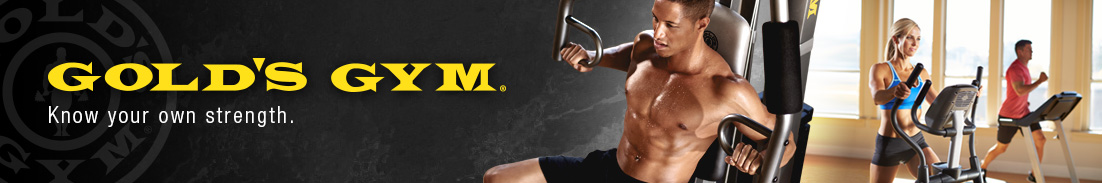 Gold's Gym browse shelf header