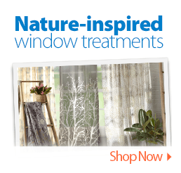 Nature-inspired window treatments
