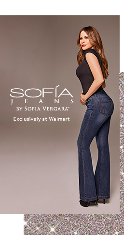 Sofia Jeans by Sofia Vergara holiday collection. Shop new styles from twenty-five dollars, exclusively at Walmart.