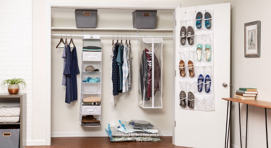 Instant Storage Make The Most Of Precious Closet E With Soft Bins Compression Bags