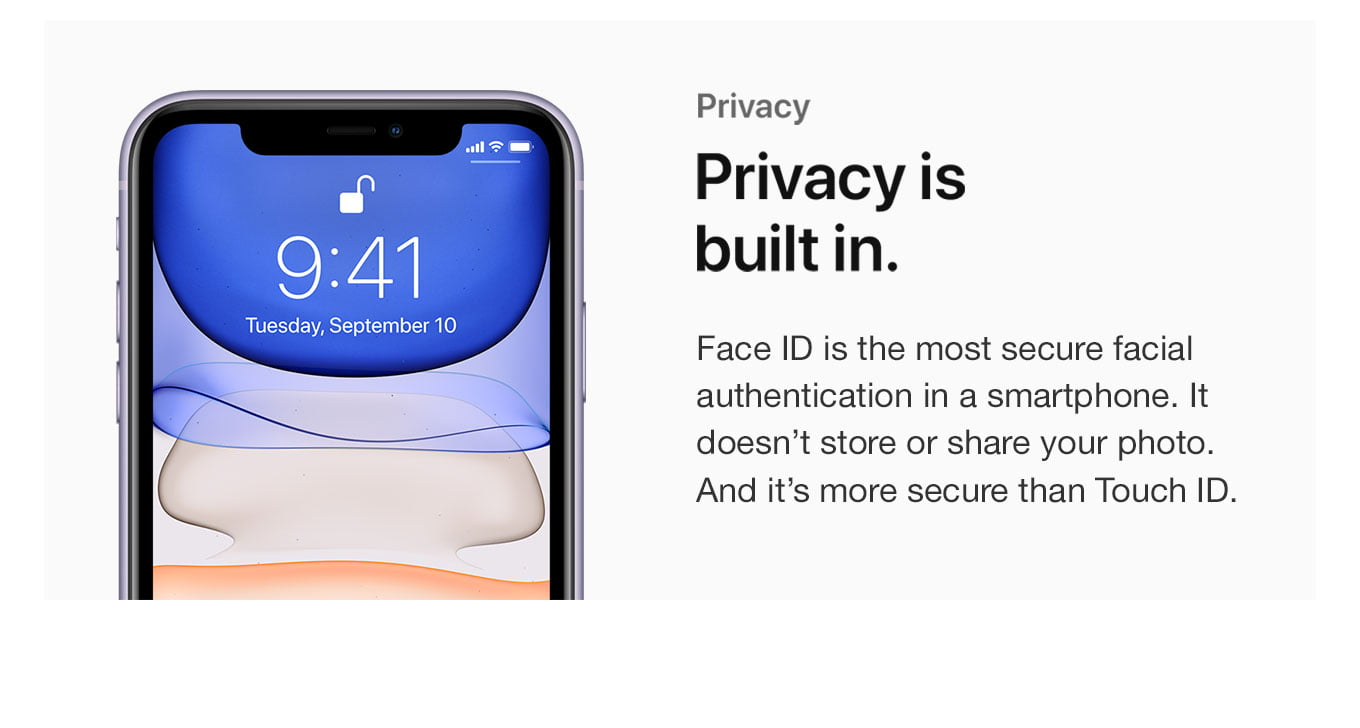 Privacy. Privacy is built in.