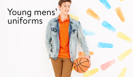Save on school uniforms for young men.