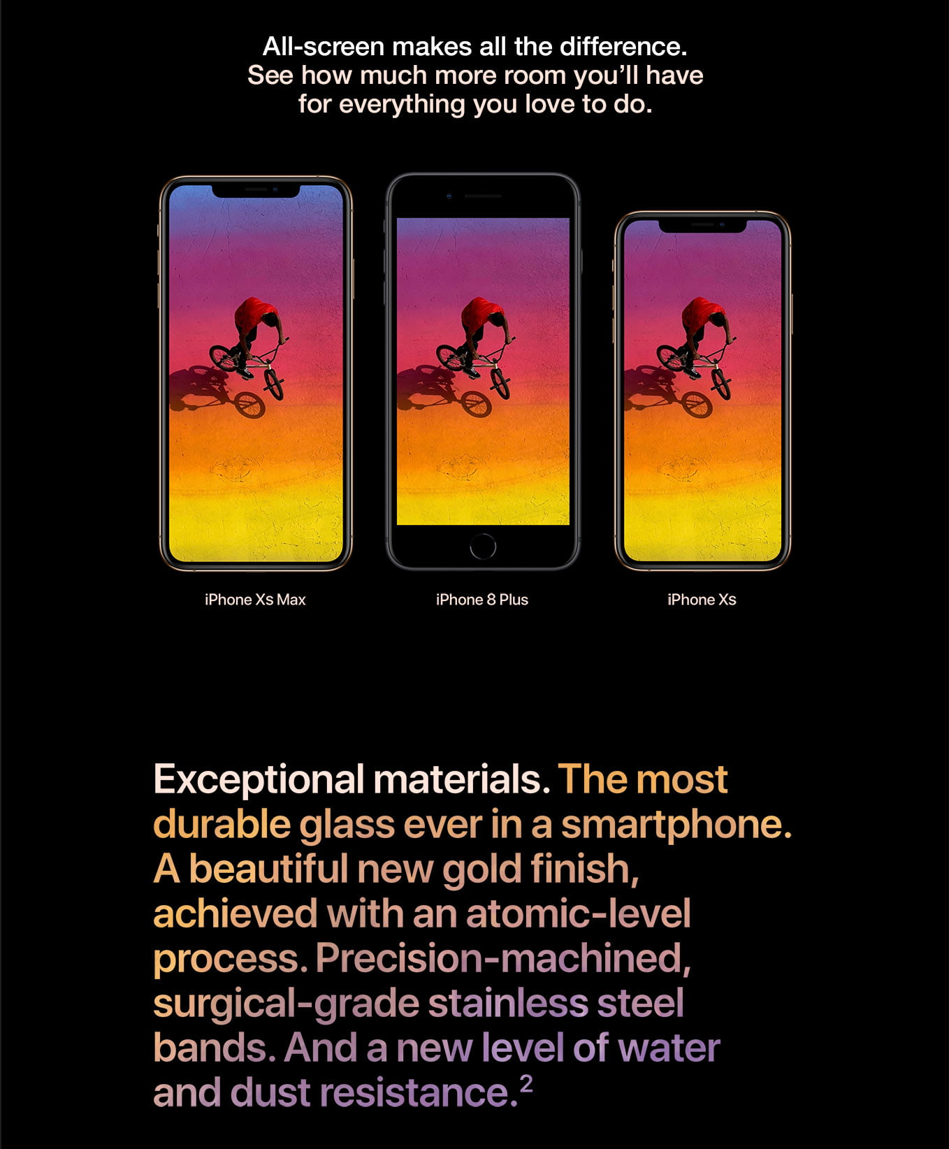 iPhone Xs screen