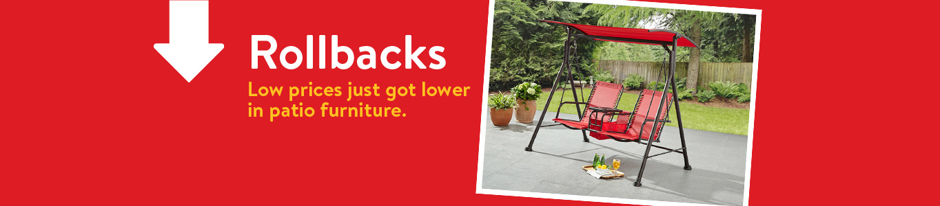 low prices just got lower on patio furniture