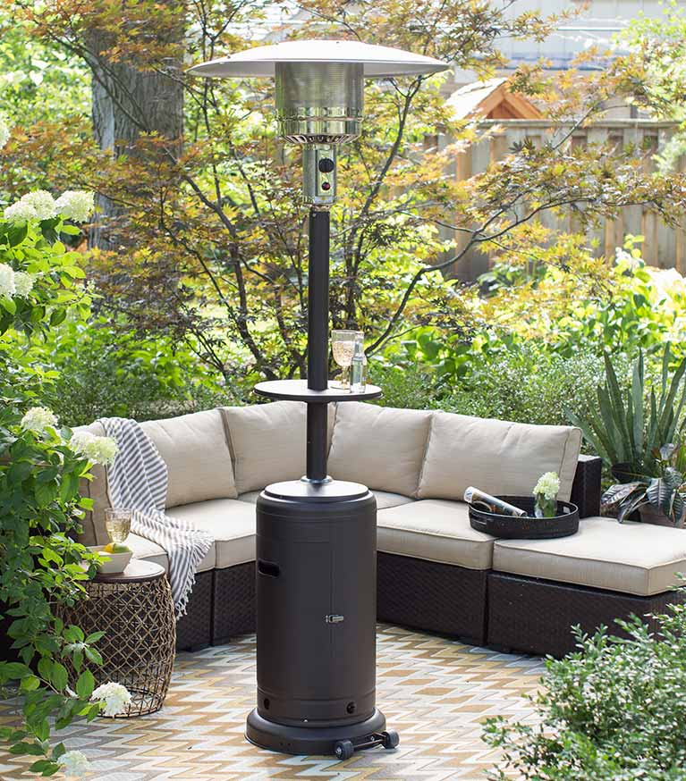 Stay Cozy Under A Patio Heater.