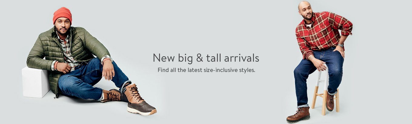 New big and tall arrivals. Find all the latest size-inclusive styles.