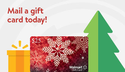 Mail a gift card today! Got one of these? Add funds now
