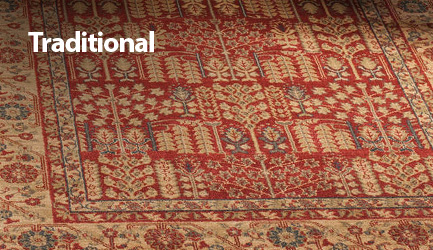 Shop traditional rugs.