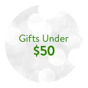 Gifts under fifty dollars