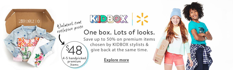 cb0648dc1bac KIDBOX + Walmart. One box. Lots of looks. Save up to 50%