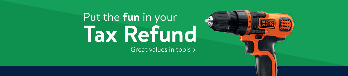 Put the fun in your tax refund with great values in tools