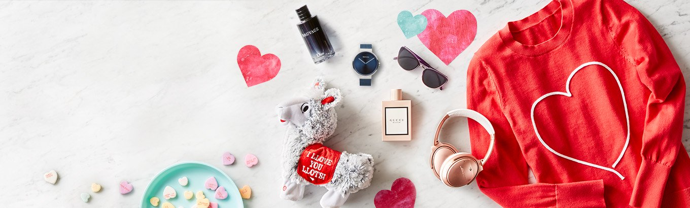 Valentine's Day gift guide. Perfect presents for all the loved ones in your life. Shop All gifts. Shop fashion gifts. Shop Candy