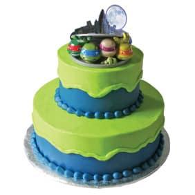 Teenage Mutant Ninja Turtles Tier Cake With Figurines