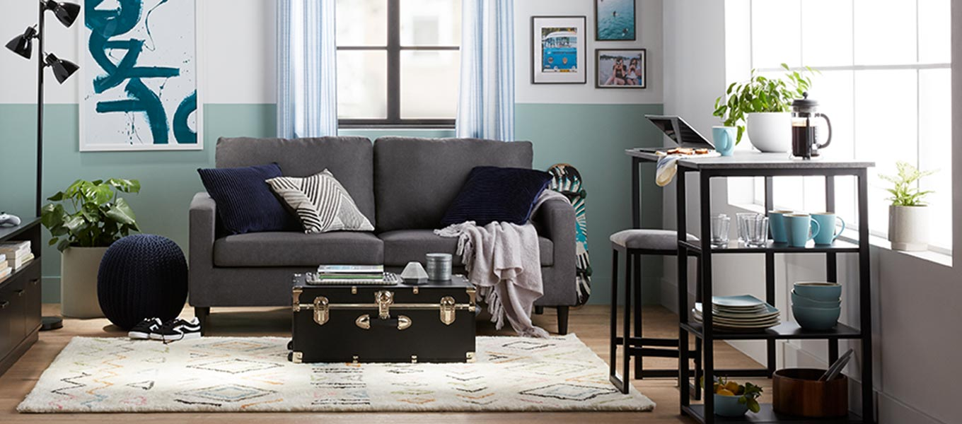 cffdf4285 Room to live. Compact dining & living room furniture.