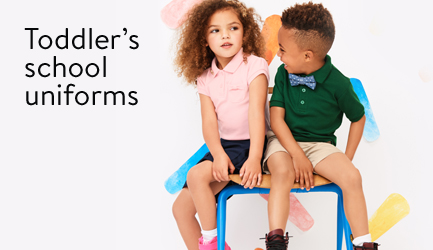 Save on school uniforms for toddlers.