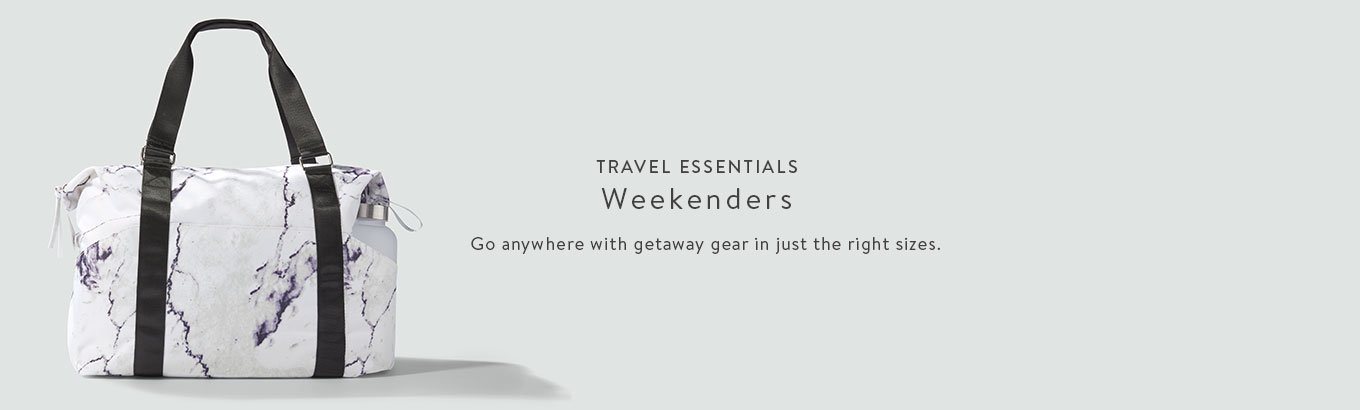 fb54d983754d Travel essentials featuring weekenders. Go anywhere with getaway gear in  just the right sizes.