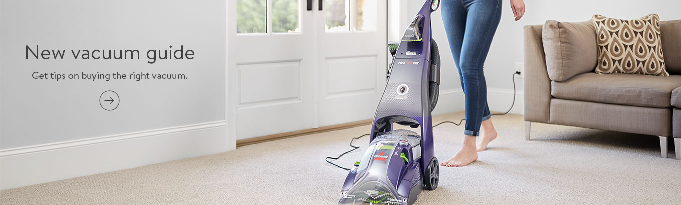 New vacuum guide. Get tips on buying the right vacuum.