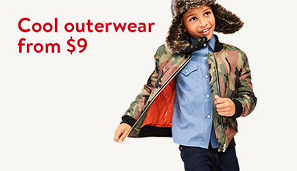 Cool outerwear from $9