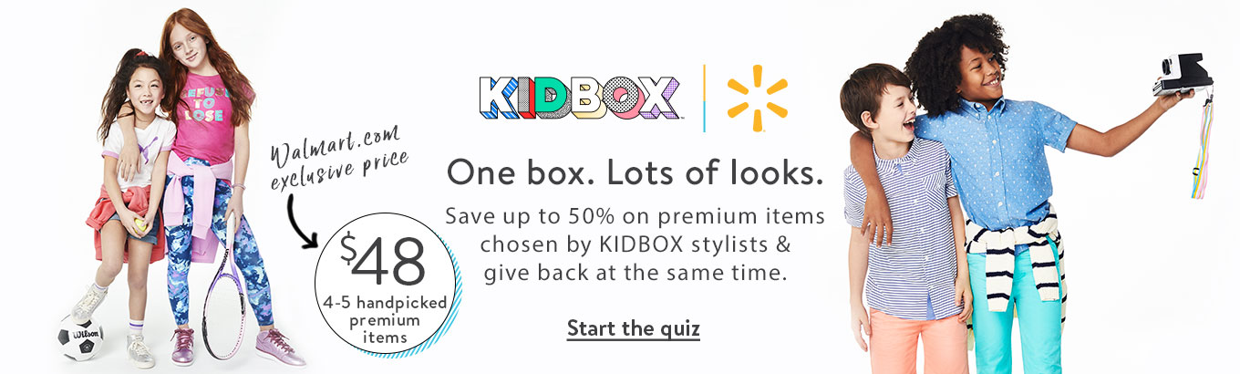 4bdae9ca5 KIDBOX + Walmart. One box. Lots of looks. Save up to 50%