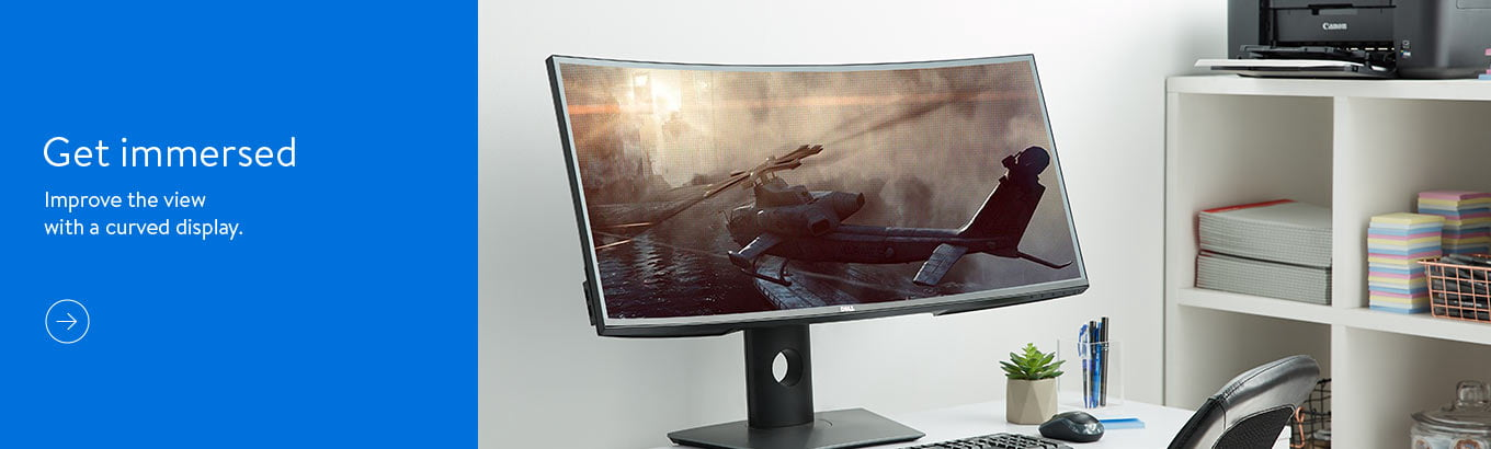 Get immersed. Improve the view with a curved display. Shop desktop computers.