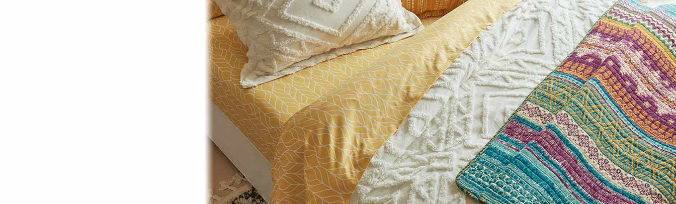 Bohemian dreams. Bedding thirty dollars and up. Boho-chic sheets and more.