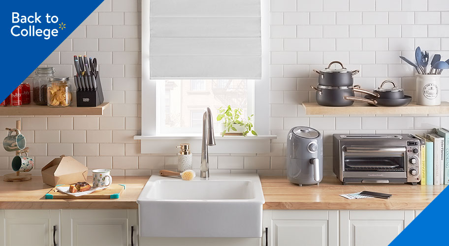 The kitchen classics. Go big in your first kitchen with first-rate basics you'll need to cook for you & your crew. Shop quality appliances & cookware, stylish tabletop, & more