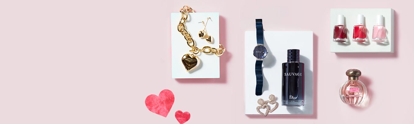 Valentine's Day. Gift with style. Woo them with jewelry, fragrance, fashion, and more they'll adore.