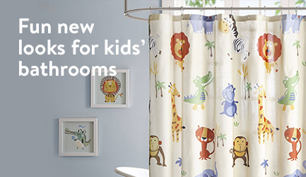 Fun new looks for kids' bathrooms.
